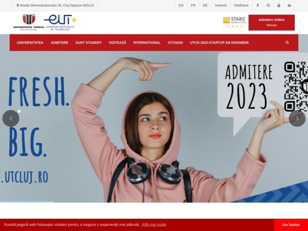 Screenshot of www.utcluj.ro
