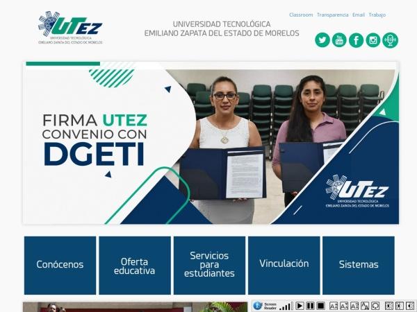 Screenshot of www.utez.edu.mx