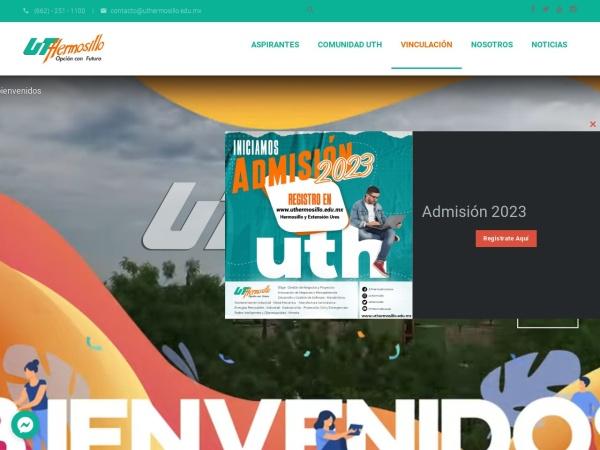 Screenshot of www.uthermosillo.edu.mx