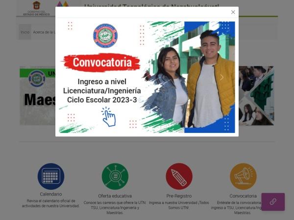 Screenshot of www.utn.edu.mx