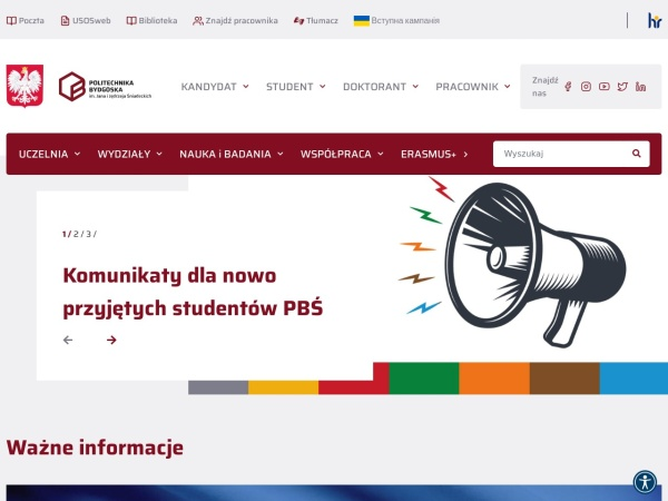 Screenshot of www.utp.edu.pl