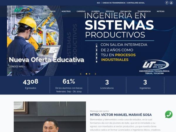 Screenshot of www.utregionaldelsur.edu.mx