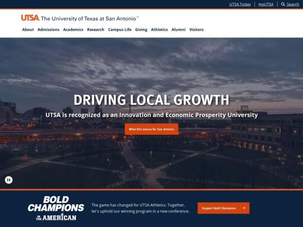 Screenshot of www.utsa.edu
