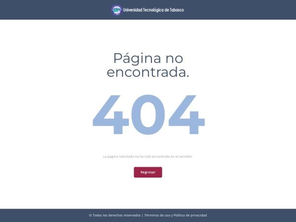 Screenshot of www.uttab.edu.mx