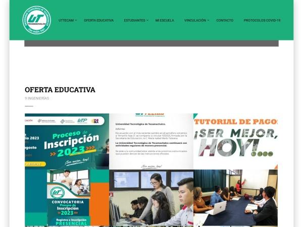 Screenshot of www.uttecam.edu.mx