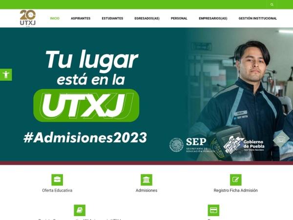 Screenshot of www.utxj.edu.mx