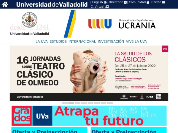 Screenshot of www.uva.es