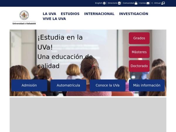 Screenshot of www.uva.es