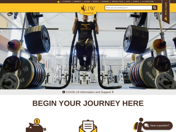 Screenshot of www.uwyo.edu