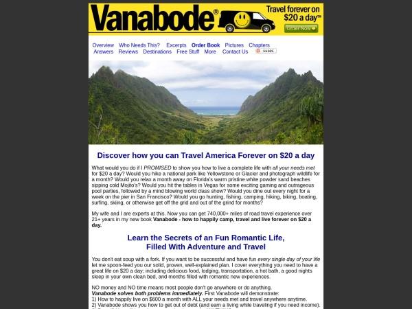 Screenshot of www.vanabode.com