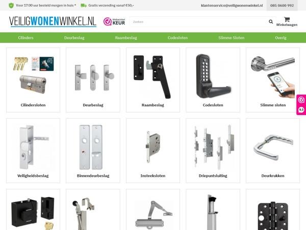 Screenshot of www.veiligwonenwinkel.nl