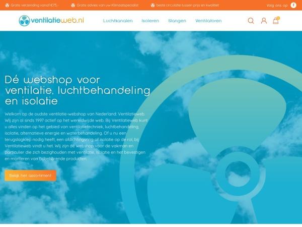 Screenshot of www.ventilatieweb.nl