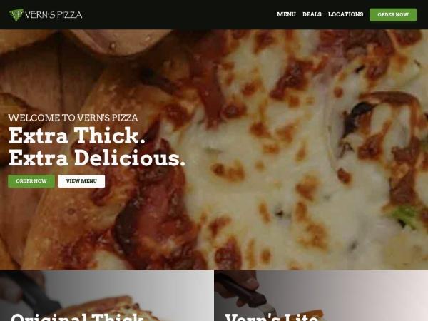 Screenshot of www.vernspizza.com