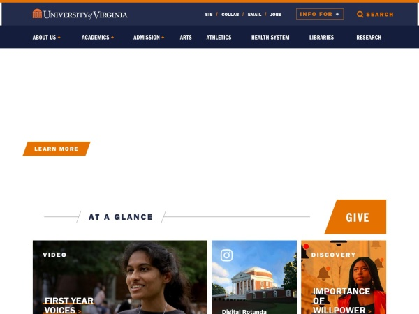 Screenshot of www.virginia.edu