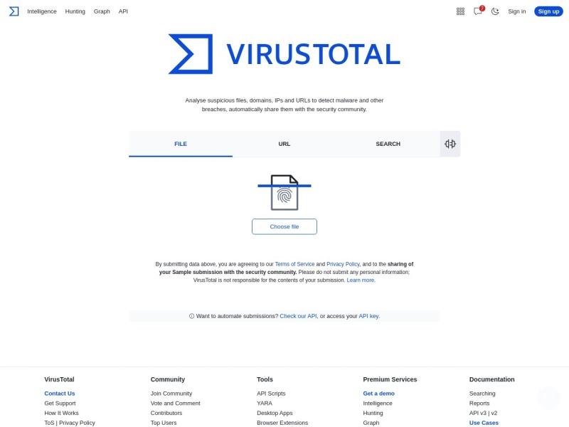 http://www.virustotal.com