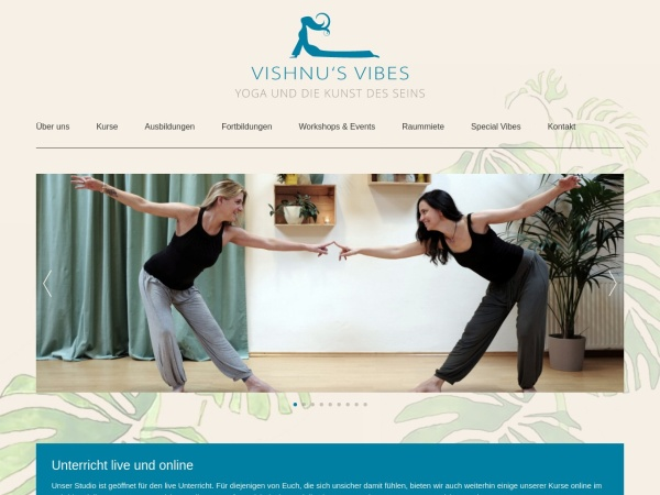 Screenshot of www.vishnusvibes.de