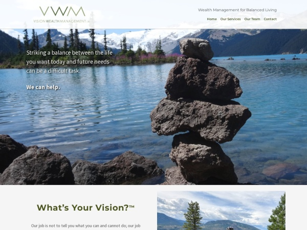 Screenshot of www.visionwealthmanagement.ca