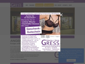 Wäsche Mode Gress