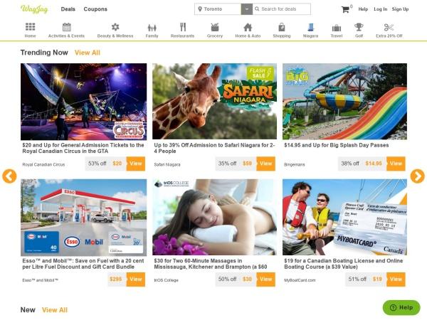 Screenshot of www.wagjag.com