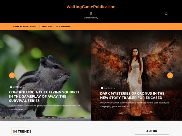 Screenshot of www.waitinggamepublications.com