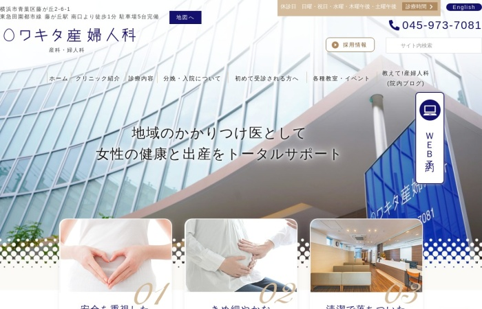 Screenshot of www.wakita-sanfujinka.com