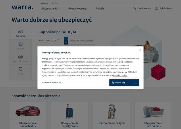 Screenshot of www.warta.pl