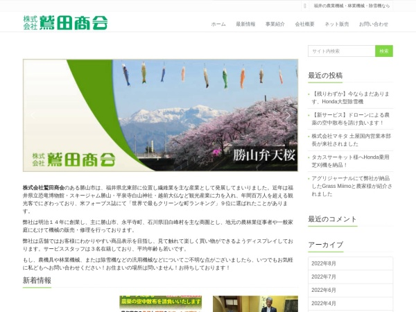 Screenshot of www.washidashokai.com