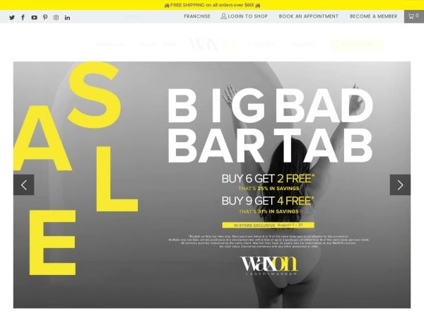 Screenshot of www.waxon.ca