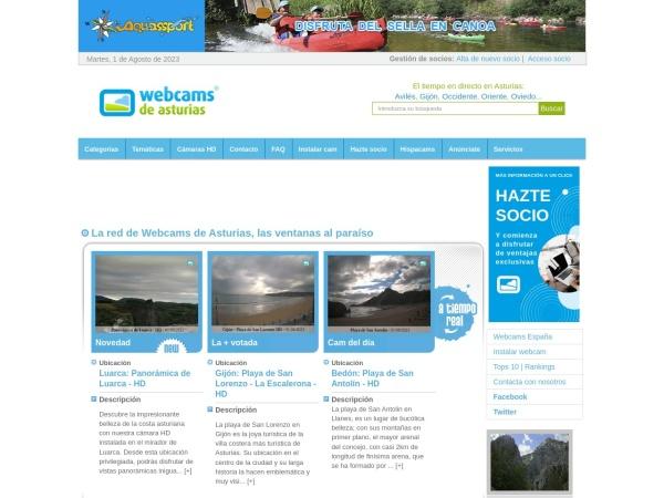 Captura de pantalla de www.webcamsdeasturias.com