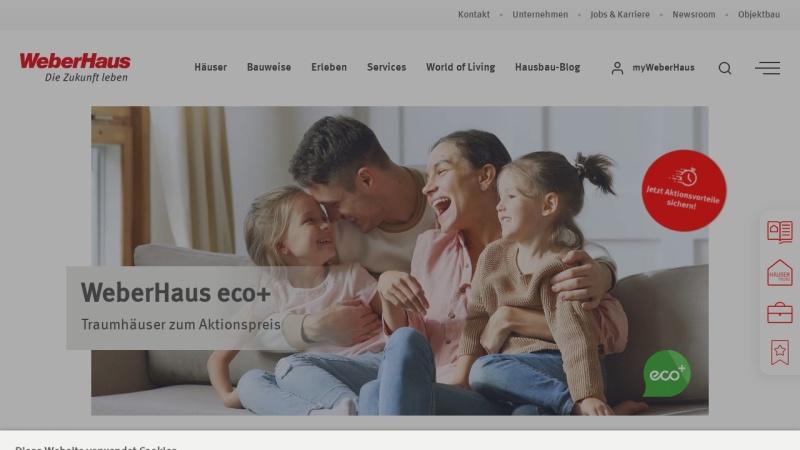 Screenshot von www.weberhaus.de