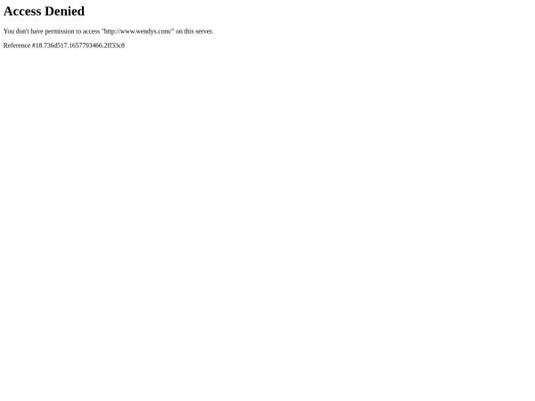 Screenshot of www.wendys.com