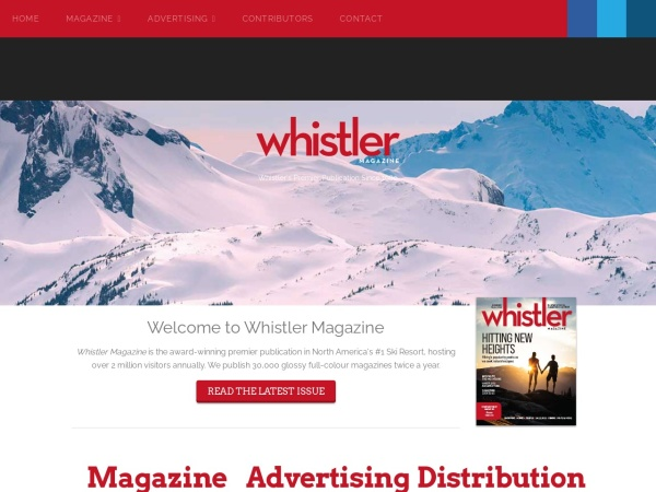Screenshot of www.whistlermagazine.com