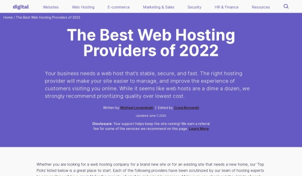 Web Hosting Reviews - The Best & Worst | December 2016