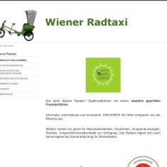 Screenshot von www.wienerradtaxi.at