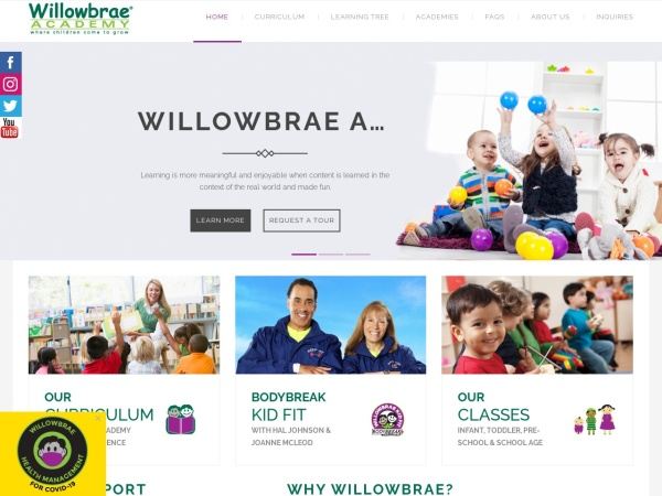 Screenshot of www.willowbraechildcare.com