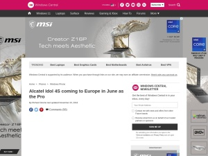 http://www.windowscentral.com/alcatel-idol-4s-coming-europe-june-pro