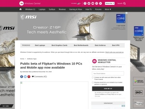 http://www.windowscentral.com/flipkarts-universal-app-available-public-beta-now