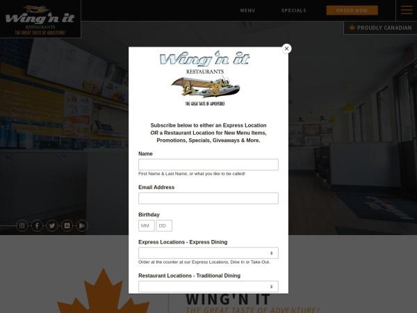 Screenshot of www.wingnit.ca