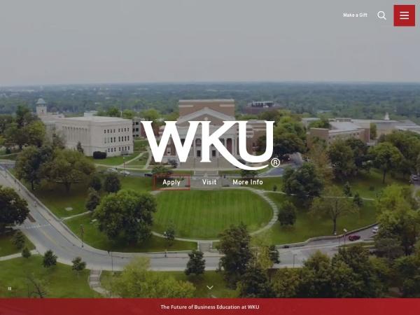 Screenshot of www.wku.edu