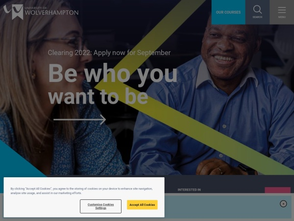 Screenshot of www.wlv.ac.uk