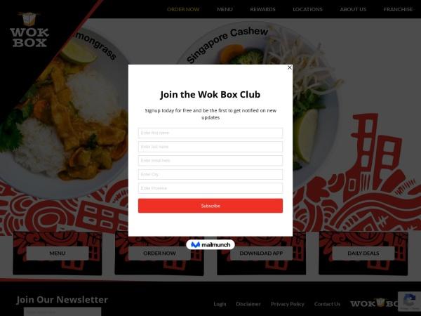 Screenshot of www.wokbox.ca