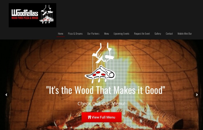 Screenshot of www.woodfellaspizza.com