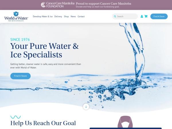 Screenshot of www.worldofwater.ca