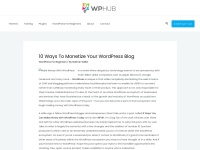 http://www.wphub.com/make-money-wordpress