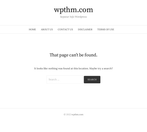 Screenshot of www.wpthm.com