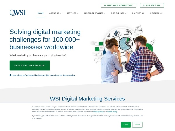 Screenshot of www.wsiworld.com