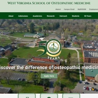 Screenshot of www.wvsom.edu