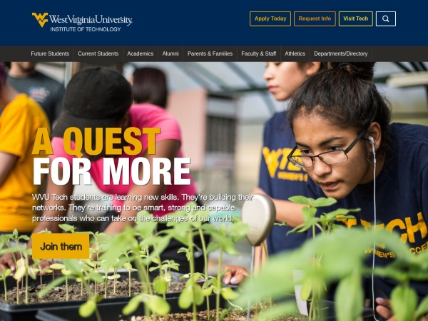 Screenshot of www.wvutech.edu