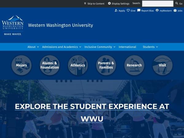 Screenshot of www.wwu.edu