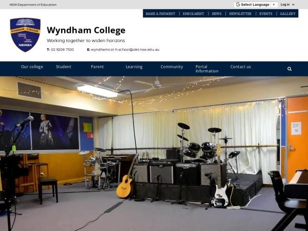 Screenshot of www.wyndhamcol-h.schools.nsw.edu.au